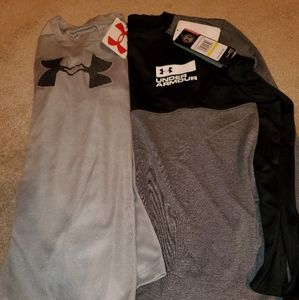 2 brand new long sleeve UA shirts YM